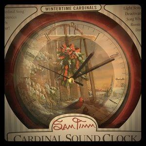Home decor cardinal clock